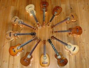 circle of ukuleles