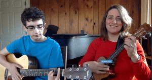 Jenny and Josh guitar:uke duet