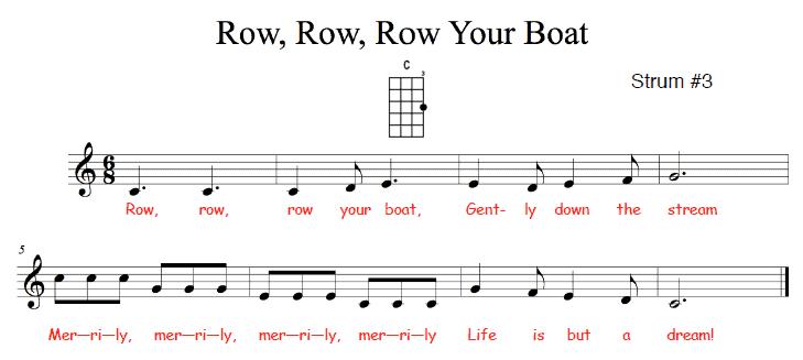 Boat: Row Row Row Your Boat Lyrics