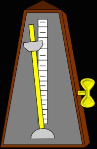 strumming speed: metronome