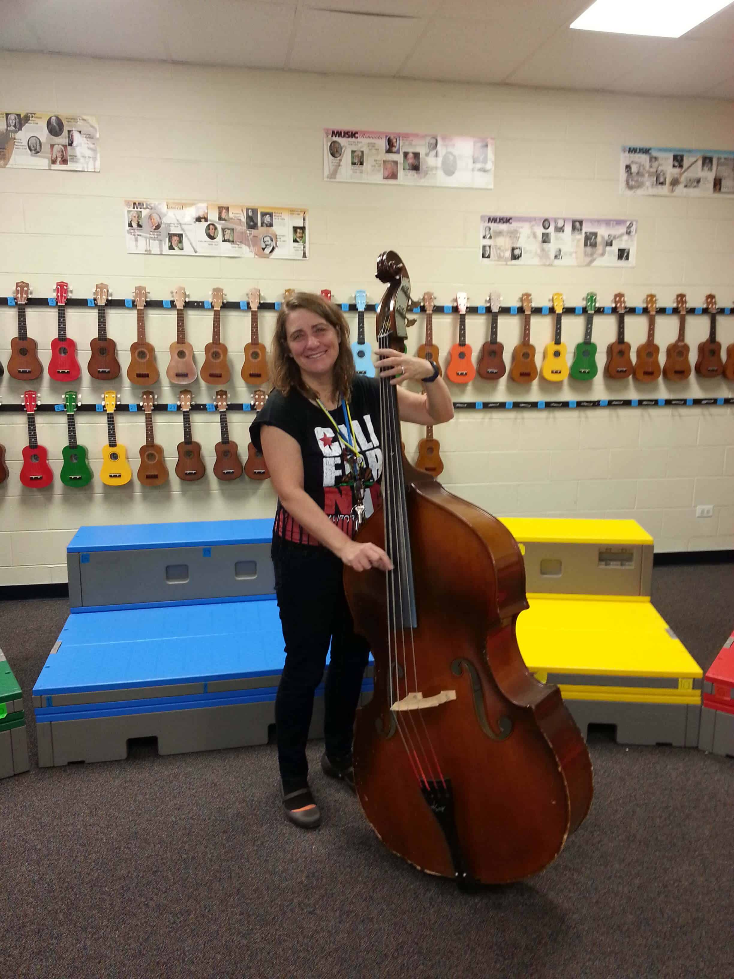 Teaching Upright Bass in Ukulele Class