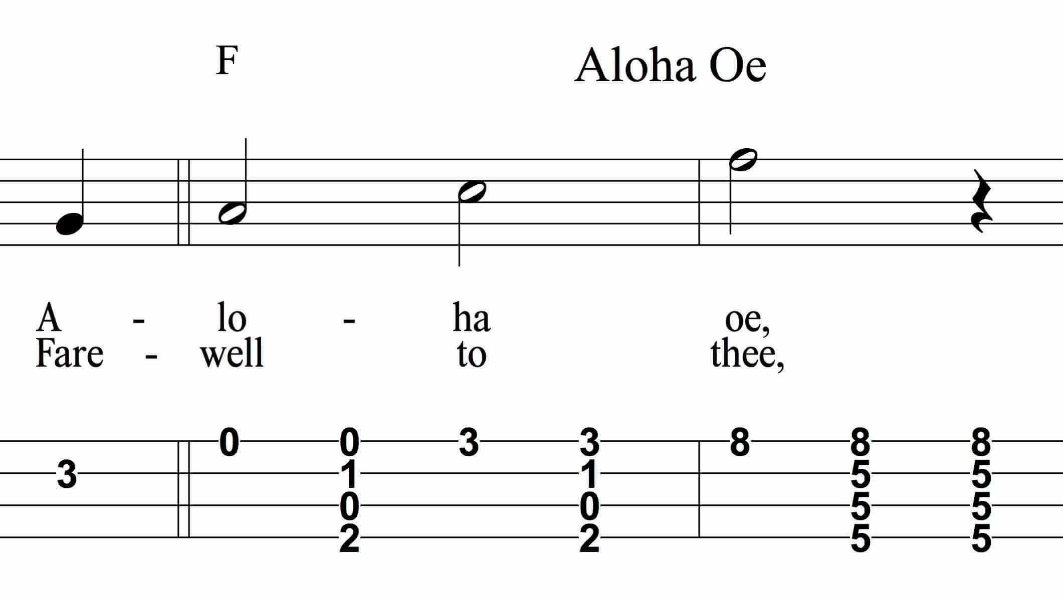 Aloha Oe snip
