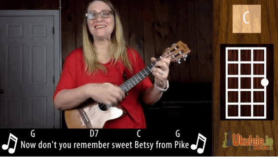 Sweet Betsy from Pike Ukulele Tutorial for Beginners