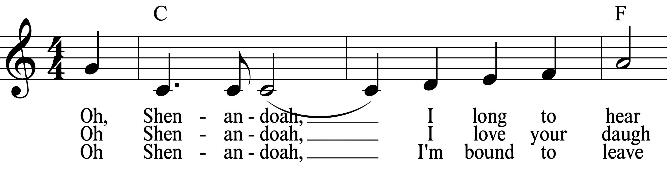 example of music notation