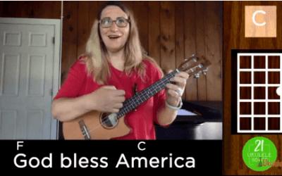God Bless America Ukulele Tutorial for Beginners