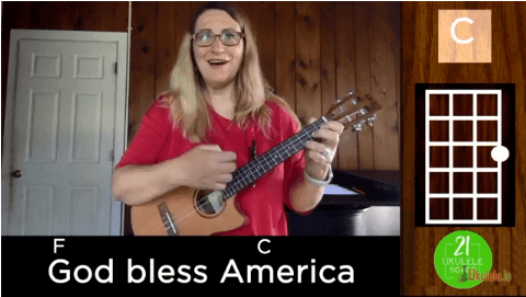 God Bless America Ukulele Tutorial for Beginners