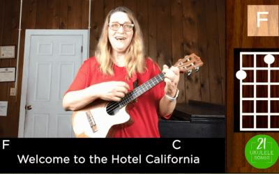 Hotel California Ukulele Tutorial Including Fingerpicking Instrumental Coda