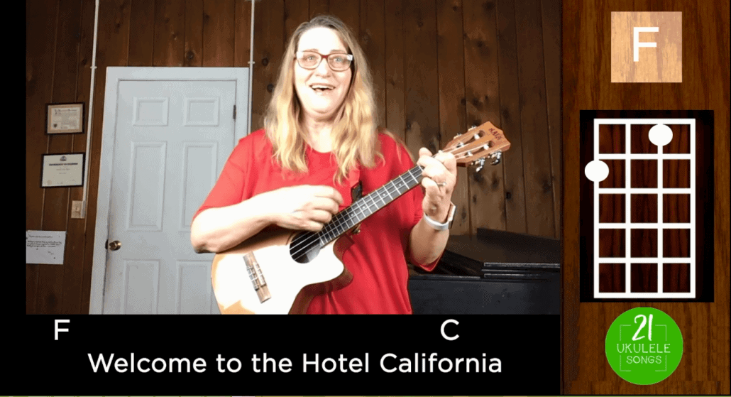 Hotel California Ukulele Tutorial Including Fingerpicking Instrumental Coda