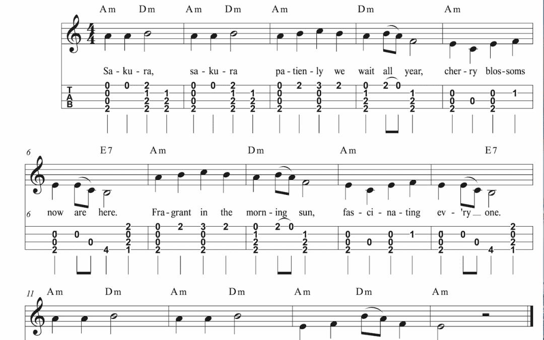 Sakura Easy Ukulele Chord Melody