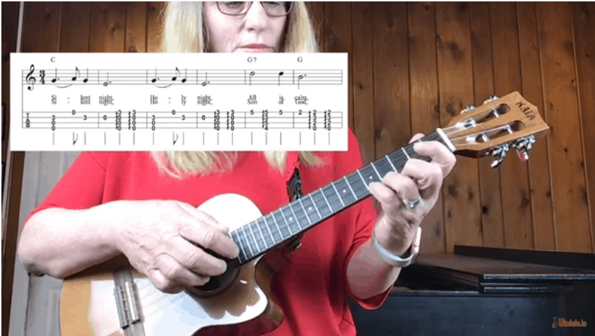 How to Play Silent Night Ukulele Chord Melody